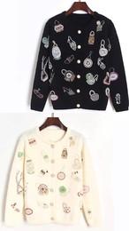 【Imported no brand】ビーズ刺繍ウールカーディガン(949-999)