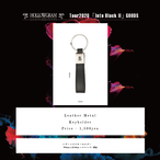 "HOLLOWGRAM ""tour Into Black II"" LEATHER METAL KEYHOLDER"