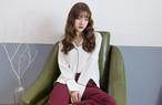 Korea style Letter Embroidery Long Sleeve Lines Sense Chiffon Shirt Polo Neck Loose Casual Shirt 321