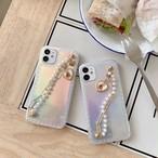 iphoneケース スマホケース 韓国 iphone11 おしゃれ チェーン オーロラ キラキラ