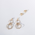Shape Pierce/Earring Gold Ver(金属アレルギー対応)