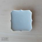 [幾田 晴子]白瓷 四稜花3寸皿