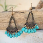 Triangle Turquoise Pierce《GOLD》