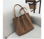 Soft Leather Bag Pcs Set Shoulder Bag Large Capacity Bag Set Handbag Casual Tote Bag Sac (HF1-8122399)
