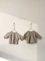 【予約販売】check blouse