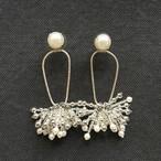 DRESS Beads Tassel  ピアスのみ -silver-