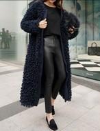 もこもこジャケット ジャケット ロングコート ファー もこもこ 韓国ファッション
