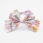 猫 首輪 柔らかい ピンク 花柄 大きいリボン リバティプリント×Primula Blossom【cat_l2028】