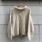 """DARDENNE TINA"" Turtle Neck Cable Knit Sweater"