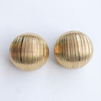 gold dome earring[e-1312] ヴィンテージイヤリング