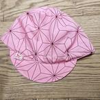 サイクルキャップ 麻の葉 ピンク