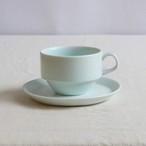 【SLSET-0054】磁器 カップ&ソーサー ブルー・ホワイト