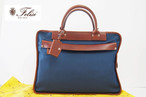【Sold Out】フェリージ|Felisi|伊勢丹別注|バリスティックナイロン|ブリーフケース|8637/2/AS+A|ブルー×ブラウン