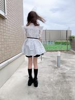 【Re birth collection】 2wayホワイトドットブラウス(8歳〜12歳・140~150サイズ)