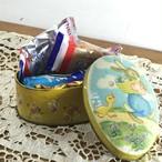 コートドール ウサギとアヒルのイラスト ビンテージTIN缶