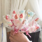 marshmallow candle bouquet(メッセージクッキー付き)
