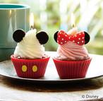 可愛すぎるミッキーキャンドル  送料無料 インスタ映え ウェディングキャンドル おすすめ 送料無料 カメヤマ キャンドルハウス カップケーキ キャンドル ウェディング ギフト 誕生日 かわいい ミッキー ミニー ディズニー