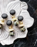 black × matte gold × mosaic shell(grey)  《再販なし》