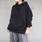 【sandglass】custom foodie(pattern A black ) / 【サンドグラス】カスタムフーディ(パターンA ブラック)