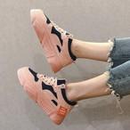 【shoes】レトロ切り替え厚底合わせやすいスニーカー21008757