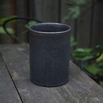 Roughness Black Cylinder Pot(MEDIUM)