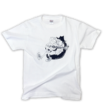 uncle 'B' T-shirt -White & Navy ver.-
