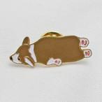 【Daily badge】ウェルシュコーギーピンバッジ【ブローチ 犬グッズ corgi】