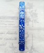 手描き 花 レジン パレッタ サンドピンク ブルー ホワイト ドット ラメ プレゼント 誕生日 お祝い