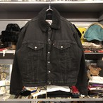 90s Levis Boa Black Denim Jacket