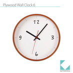 KATOMOKU plywood wall clock 6 km-52LB