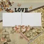 <写真を貼るだけ>12インチスクラップブッキング作品「LOVE」