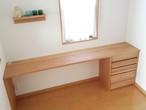 タモ材 リビングルームのワークテーブル