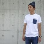 DENIM POCKET T-SHIRTS(WHITE)