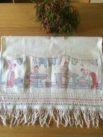 北欧 スウェーデン 刺繍大判クロス ヴィンテージ  アンティーク