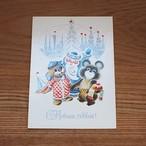 【ロシア】 こぐまのミーシャ ヴィンテージカード (No.4) あざらしのヴィグリ クリスマスカード ポストカード