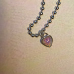 pink opal HEARTの鍵choker #1823 ピンクオパールハートの鍵チョーカー