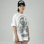 KNOCKOUT×MARRIONAPPAREL OCTOPUS SKULL  Tee (White×Gray)