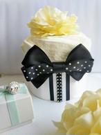 再販:出産祝いおむつケーキ【タキシード】