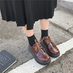 【shoes】 PU thick bottom spring summer flat pumps
