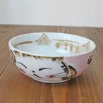 【福々】福猫パック小鉢 M(ピンク)【お茶碗 猫柄 肉球付 猫雑貨】