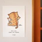 にゃんきーとすA3ポスター「猫といつも…」