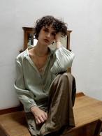 shimmer bowtie blouse(mint)