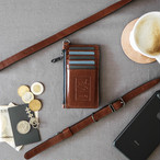 本革スリムカード財布+15mmストラップ【幅15mmストラップセット価格】Wallet & Strap SET Price