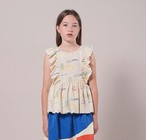 BOBO CHOSES ボボショセス Playground All Over Ruffle Top size:2-3Y(95-100)~10-11Y(140-150)