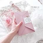 【革】 春*rose&ピンク フリーケース [za-433] マスク・通帳