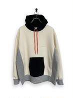 Original Hooded Sweatshirt / 3tone / white × black × gray