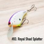 """BRISKY LURES  /  """" Natalie """" / #3. Royal Shad Splatter"""