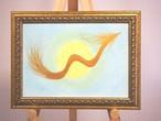 【1点限り】あなたを導く 金の龍アート(フラワーオブライフ)