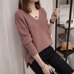 【tops】今季注目甘い印象vネックセーター 24385385