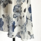 "◇""Tatiana"" Ballet Wrap Skirt - Camellia BLUE×WHITE [Sheer]( カメリア・ブルー×白 [シアー])"